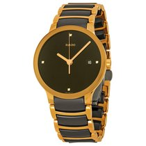 Rado Men's Centrix Jubile Black Dial Black Ceramic Watch