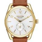 Nixon A459-2227 C39 Leather Gold Saddle White 39mm 10ATM