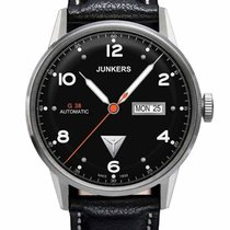Junkers G38 6966-2 Day-Date Automatik schwarz silber 10 ATM 42 mm