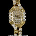 Roberge 18k Y/G Natural Fancy Yellow Diamond Set Ladies Watch