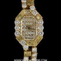 Roberge 18k Y/G Natural Fancy Yellow Diamond Set Ladies Watch