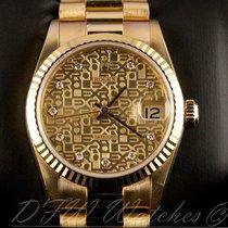 Rolex 18k Yellow Gold Midsize President Datejust 31mm 68278