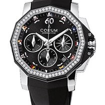 Corum Admiral's Cup Chronograph in Steel with Diamond Bezel