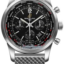 Breitling Transocean Chronograph Unitime Pilot ab0510u6/bc26-ss