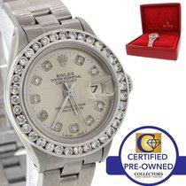 Rolex DateJust Stainless Steel 6919 Diamond Bezel 26mm Watch