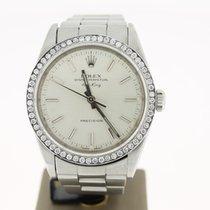 Rolex Airking Precision Steel Afterset Diamonds (BOX2001)  34mm