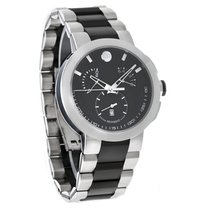 Movado Verto Mens Black Swiss Chronograph Quartz Watch 0606546