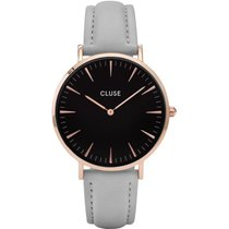 Cluse Damenuhr La Bohème Rose Gold Black/Grey CL18018