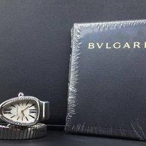 Bulgari Serpenti 35mm 1 Row Steel Diamond Bezel Silver Dial ...