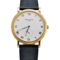 Patek Philippe 18k Yellow Gold Calatrava on Leather