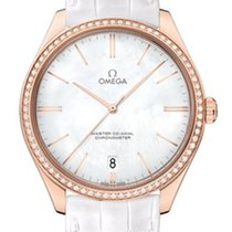 Omega 43258402105001 De VIlle Tresor Gold White Diamonds