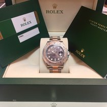 Rolex New Yachtmaster Steel/Everosegold , Chocolate dial