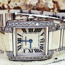 Cartier Tank Francaise 18k White Gold factory Diamonds WE1002SF