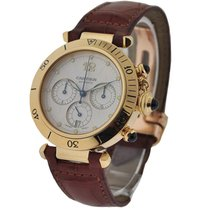 Cartier W3014051 Pasha 38mm Yellow Gold Chrono - on Strap with...