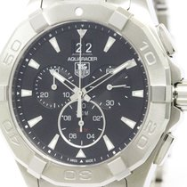 TAG Heuer Polished Tag Heuer Aquaracer Chronograph Quartz Mens...