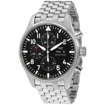 IWC Pilot Automatic Chronograph Black Dial Mens Watch IW377710