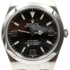 Rolex Explorer I 214270 Men's 39mm Black Stainless Steel...