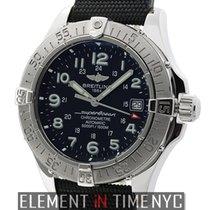 Breitling Superocean Chronometer Stainless Steel 42mm Black...