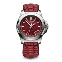 Victorinox Swiss Army I.N.O.X. red dial and  paracord survival...