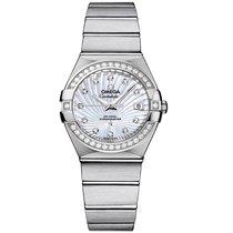 Omega Constellation Steel Mop White 123.15.27.20.55.001 Ladies...