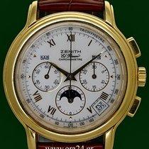 Zenith Chronomaster El Primero Triple Date Moon 18k Porcelain...