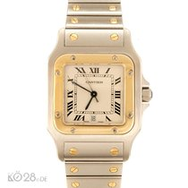 Cartier Santos Medium W20011C4 Stahl / Gold Papiere 10/19996 D