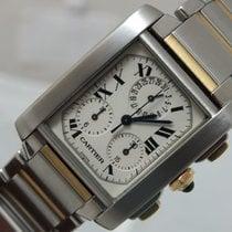Cartier Tank Francaise Chronoflex Yellow gold/Steel