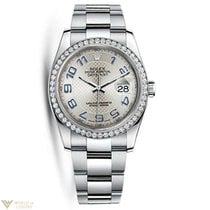Rolex Oyster Perpetual Datejust 18K White Gold & Stainless...