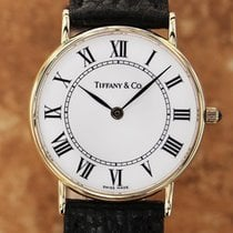 Tiffany And Co Swiss Made Luxury Mid Size 14k 31mm Mens Watch...