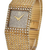 Piaget Polo Square with Full Pave Diamonds