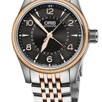 Oris Big Crown Pointer Date,Black Dial, Steel\Gold Bracelet