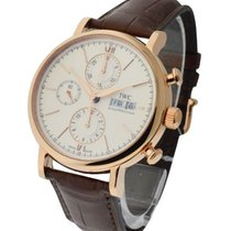 IWC IW391020 Porofino Chronograph 42mm Mens Automatic in Rose...