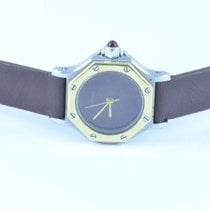 Cartier Santos Ronde Quartz Damen Uhr 25mm Stahl/gold Guter...