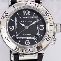 Cartier Pasha Seatimer Date Automatic Steel Sportler Luxusuhr...