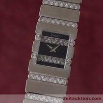 Piaget Lady Polo 18k Weissgold Diamanten Damenuhr Ref. 15201c705