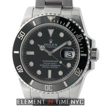 Rolex Submariner Stainless Steel Ceramic Black Dial Scrambled...
