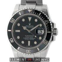 Rolex Submariner Stainless Steel Ceramic Black Dial