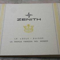 Zenith vintage warranty booklet newoldstck for chrono e diver...