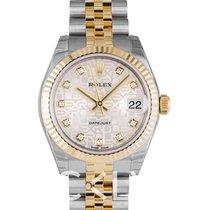Rolex Datejust Lady 31 Steel Gold Champ Jub Dia - 178273