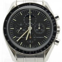 Omega Speedmaster Rare Moonphase Chronometer Stainless Steel...