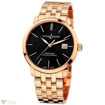 Ulysse Nardin Classico Automatic Rose Gold 18K Bracelet Black...