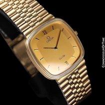 Omega 1983 De Ville Vintage Mens Dress Watch - 18K Gold Plated