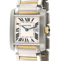 Cartier Tank Francaise 2465 Steel, Yellow Gold