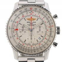 Breitling Navitimer GMT Stahl Automatik Chronograph Armband...