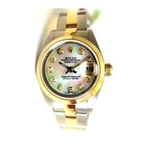 Rolex Datejust Lady's Steel and Gold Oyster Band with...