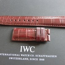 IWC 20mm brown crocodile strap bracelet for deployment buckle