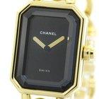 Chanel Premiere Size L 18k Gold Quartz Ladies Watch H0003...