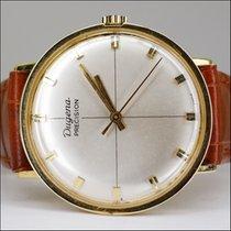 Dugena Precision Handaufzug 18kt Gold