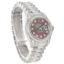 Rolex President Ladies 18k Gold Mother Of Pearl Diamond Watch...