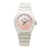 Omega Constellation Stainless Steel With Diamonds Pink...